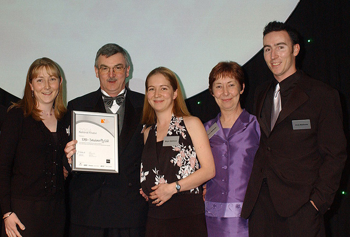 Allen and his family at the Telstra Small Business awards Finals in 2004 (L-R: Kylie, Allen, Megan, Kerry and Chris)