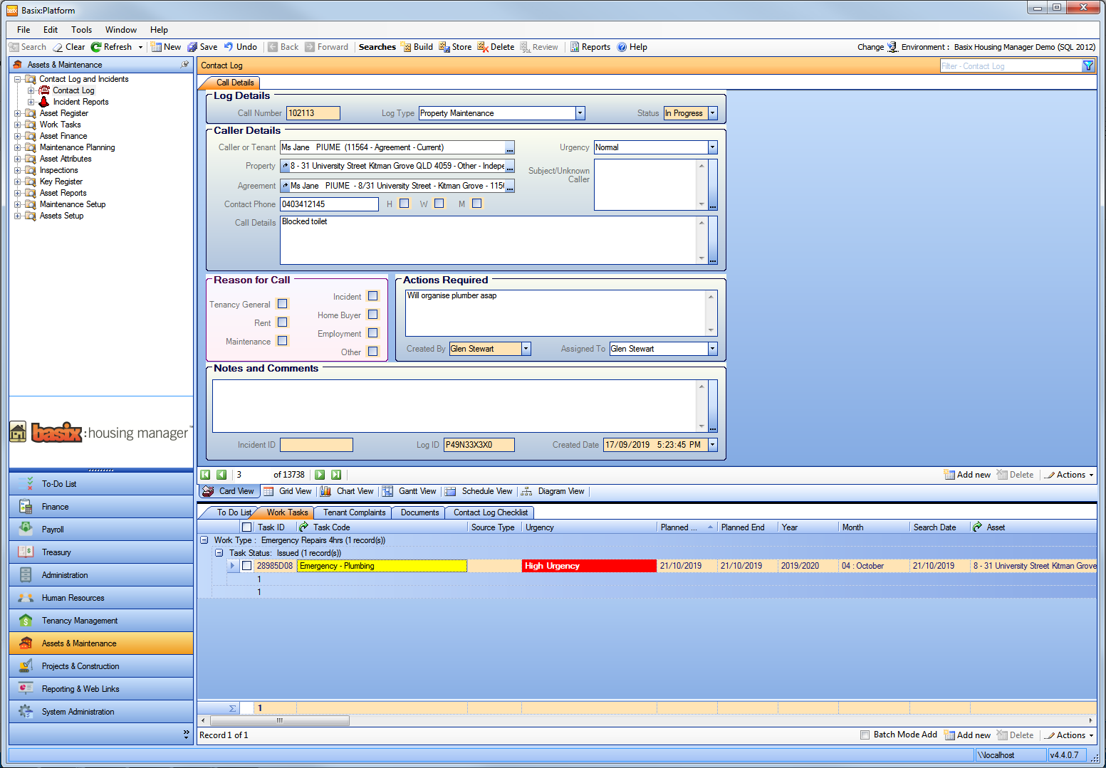 Basix:Housing Manager screenshot